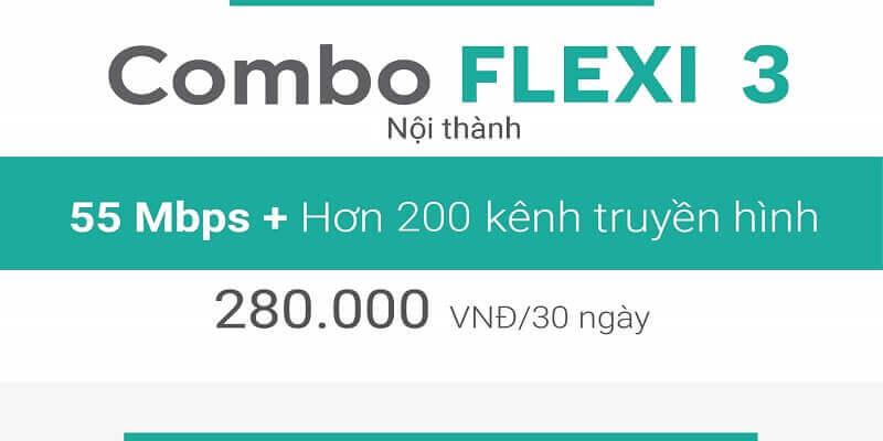 Gói Cước Combo net3 plus viettel nội thành 280.000đ