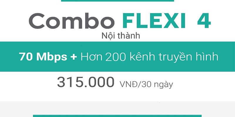 Gói Cước Combo net4 plus viettel nội thành 315.000đ