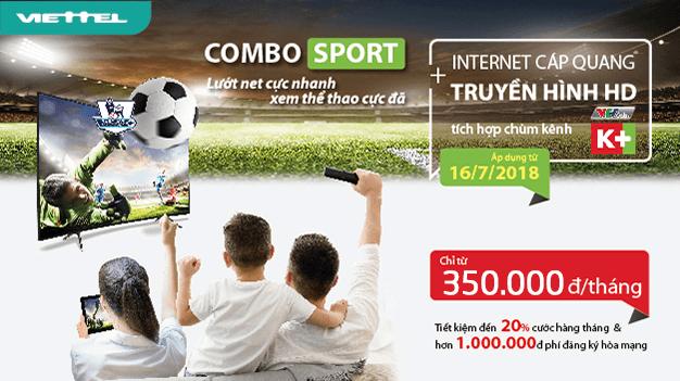 Gói Cước combo sport 3 viettel (nội thành) với nhiều tính năng vượt trội chi phí thấp