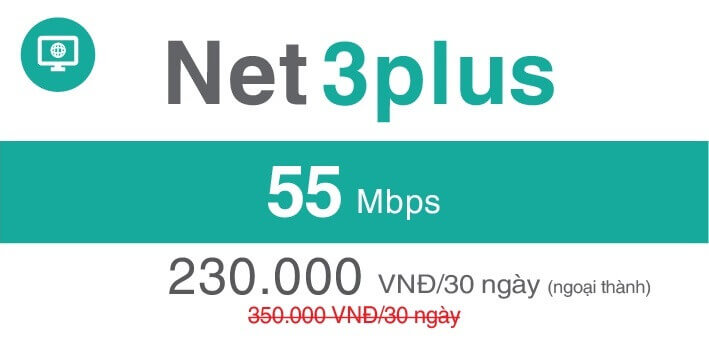 Net 3 Plus Viettel (Ngoại thành)