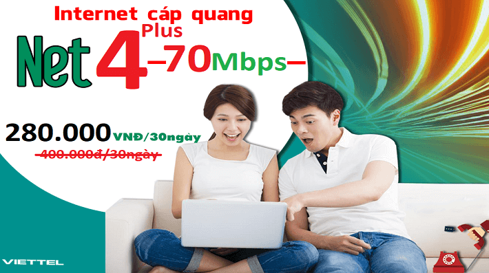 Net 4 Plus Viettel (Ngoại thành)