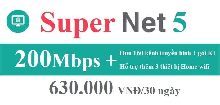 Gói cước Super Net 5 Viettel (Nội Thành)
