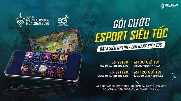 khuyến mại Miễn phí chơi và xem Esport liên quân Mobile