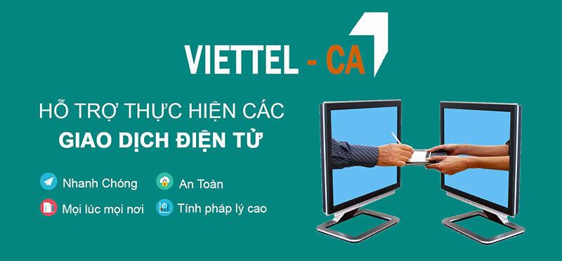 Dịch vụ chứng thực chữ ký số Viettel - CA