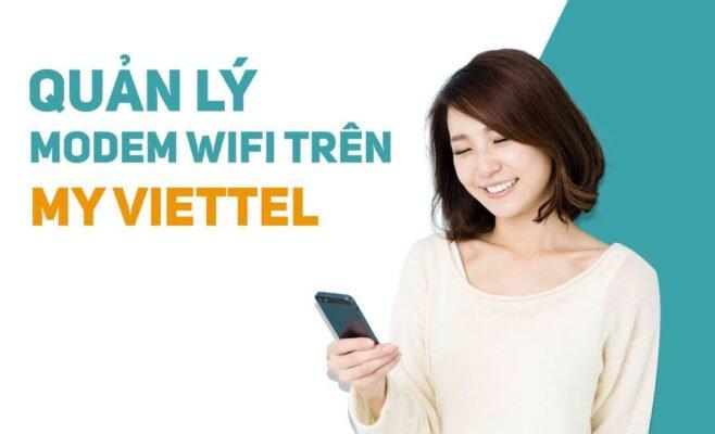 Quản lý thiết bị modem wifi từ xa trên My Viettel