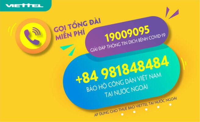 Miễn phí cước gọi tổng đài bảo hộ công dân Việt Nam