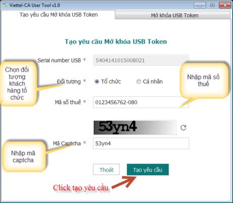 Hướng dẫn reset mã PIN cho USB Token Viettel